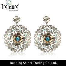 rhinestone earring jewelry Silver oxide