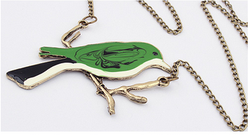 C12124A Lovely Style Fashion Sweater Chain Finches On Its Branches