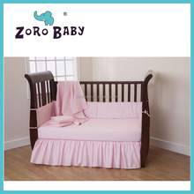 Pink color Baby Bedding American Baby Company Percale Crib Bed Set