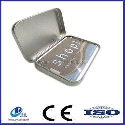 Custom printed rectangular tin box/exquisite business card tin box