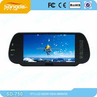 7 inch lcd monitor high brightness rearview mirror monitor