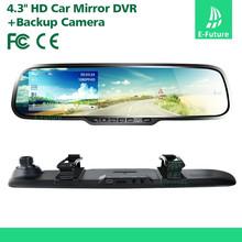 "4.3"" Rearview Mirror Viedo Recorder 1080 P dual camera car dvr"