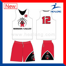 Latest Custom Design Basketball Jersey Set for Team