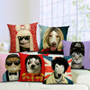 funny comical cute animal cartoon stars cat dog whosale office cushion covers/sofa chair seat cushion covers