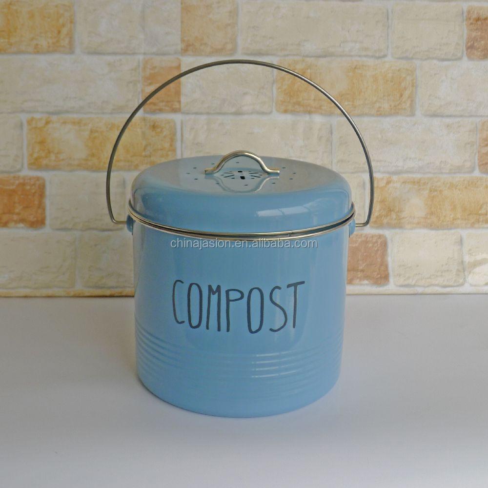 blanc cuisine compost recyclage des d chets caddy bac de. Black Bedroom Furniture Sets. Home Design Ideas