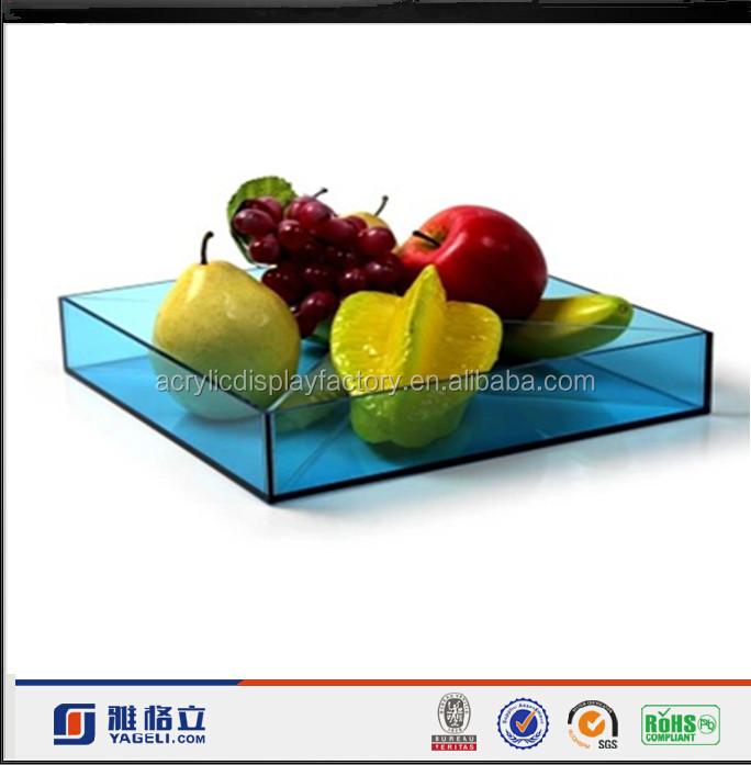 Custom Design Acrylic Plexiglass Material Fruit / Food/ Restaurant Serving dish