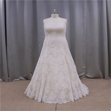 2014 modern western see through back wedding dress with beaded top
