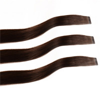 "20"" Dark Brown 50gram Super Tape Seemless Alibaba Express Virgin Brazilian Remy Hair Wholesale"