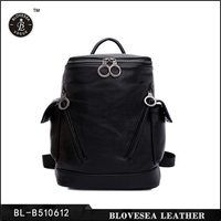 Korean Style New Fashion Lichee Leather High School Big Student Backpack