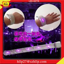 Import Gift Items From China Nylon Slap Bracelet Customized Corporate Gifts LED Lighting Wristband