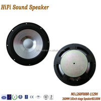 260mm 10Inch 8ohm 100W Professional 5.1 Best Home Theatre Audio Pro Stage Speaker