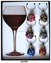 clear brown glass balls for drinking bottle ornament