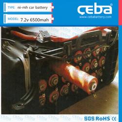 CEBA 7.2v 6500mah hybrid car battery for Honda prius/ Insight Toyota and Prius
