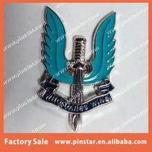 Hot Sale Custom Made Soft Enamel Sword Shape Pin Badge Who Dares Wins