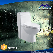 ceramic single piece siphonic toilet with beautiful color