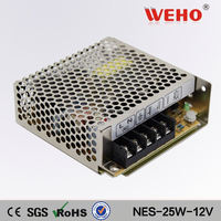 china market of electronic NES 25W single output 220v ac to 12v dc transformer power supply