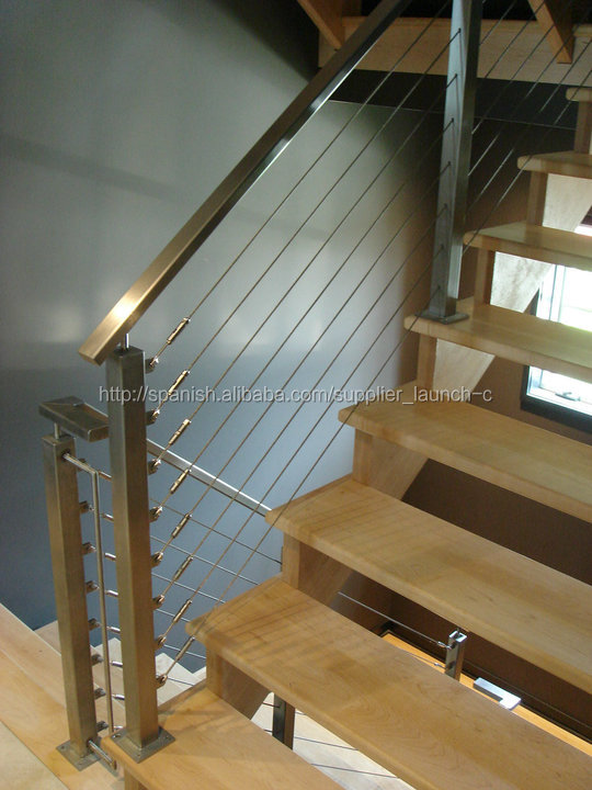 Tensor de cable de acero inoxidable cable pasamano para for Barandillas escaleras interiores precios