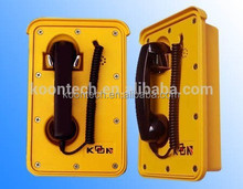 lightening protection sound power telephone/ water proof telephone for metro and railway KNSP-10