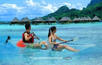 100% Transparent Catamaran kayak High quality best price used not inflatable kayak/ canoe/boat/native kayak