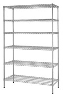 Multi-purpose 6 Tiers Chrome Metal Wire Rack for Showroom Display , NSF Approval