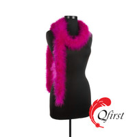 Fashion design plumage crafts cheap price dyed hot pink marabou feather boa for party