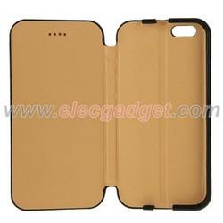 Black Lichee Texture Horizontal Flip Genuine Leather Case for iPhone 6