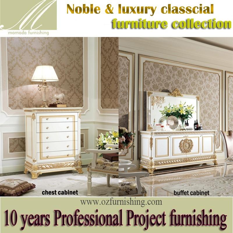 Yb62 elegante blanco y oro sala sofa set, oro de lujo pintado ...