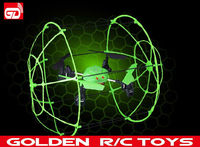 New bright 4-CH 2.4G RC quadcopter helicopter climbing on the wall with light and hovering function