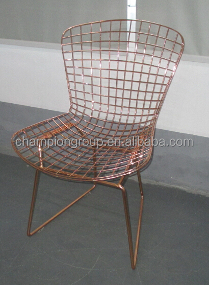 replica bertoia steel wire chair commercial bertoia wire chairs in gold & Harry Bertoia Wire ChairReplica Bertoia Side Chairs Factory - Buy ...