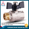 TMOK 1/2 inch brass body double union nipple forged cw617n NPT threaded connection brass float ball valve