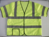 China Supplier Summer High Visibility Short Sleeves Reflective Security Jacket Fluorescent Mesh Breathable Road Safety Vest