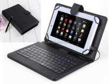 "Laptop Keyboard Leather Case Smart Cover Gaming Keyboard With Stylus Pen For 7"" Tablet PC"