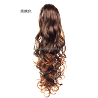 HOT Womens' Long Wavy Curly Claw Hair Ponytail Clip-on Hairpiece