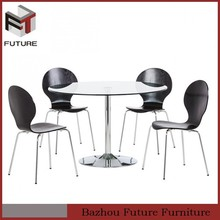 Multifunction Economic outdoor oval shape glass dining table