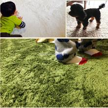 ptotective living room microfiber silk round baby rug