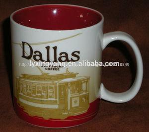 Taza de cerámica, café de starbucks taza, ronda de starbucks taza