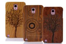 laser engraving wooden case for Samsung Note 3 2-piece wooden case