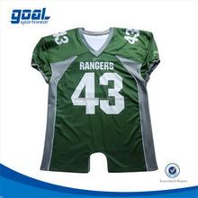 100% polyester university fashion american football top