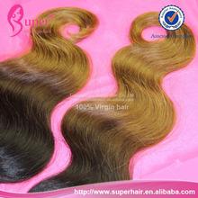 """3bundles/lot 16"""" 18"""" 20"""", la reina productos para el cabello brasileño la onda del cuerpo, stema ombre de pelo"""