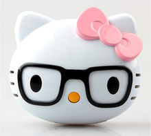 8000mah cute hello kitty with glasses portable mobile power bank for galaxy note 3