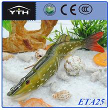 Lifelike artificial isca de pesca de alta qualidade articulado rígido pike pesca isca it para muaky jogos divertidos