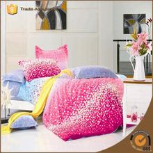 cheap comfortable fashion design brushed print polyester bedding set