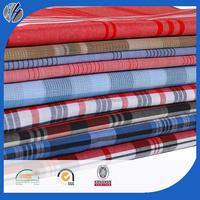 100 cotton yarn dyed check fabric