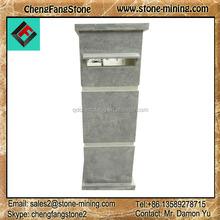 cheap garden letter box/ stone mailbox/ stone letterbox