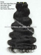 Deep wave Brazilian hair weft, cheap machine made hair extension for black hair