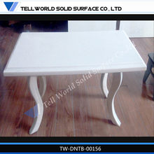 2014 pure acrylic simple style laminated dining table with special curved table legs