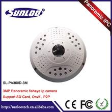Newest IP Camera in 2015 360 Degree Full HD Fisheye Panoramic camera IR Fisheye IP Camera 3 MP Support POE and Wifi
