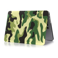 For Apple Macbook Pro Laptop, Camo Design Pattern Soft Shell Case for MacBook Air A1237- Green Camo