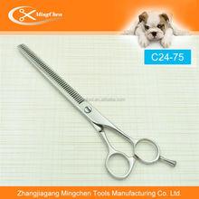 C24-75 desbaste tesoura Pet Grooming tesoura
