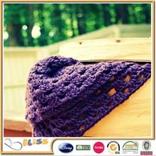 BSCI SEDEX DISNEY factory Custom design purple crochet knit baby blanket/baby knit blanket